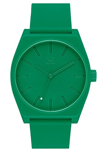 adidas Watches Process_SP1. Silicone Strap, 20mm Width (All Green. 38 mm).