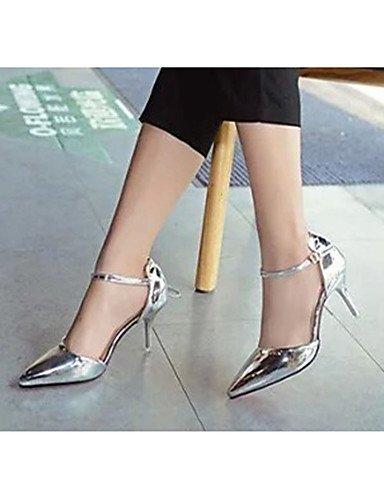 GGX/ Damenschuhe-High Heels-Lässig-Lackleder-Stöckelabsatz-Absätze-Rot / Silber / Gold red-us6 / eu36 / uk4 / cn36