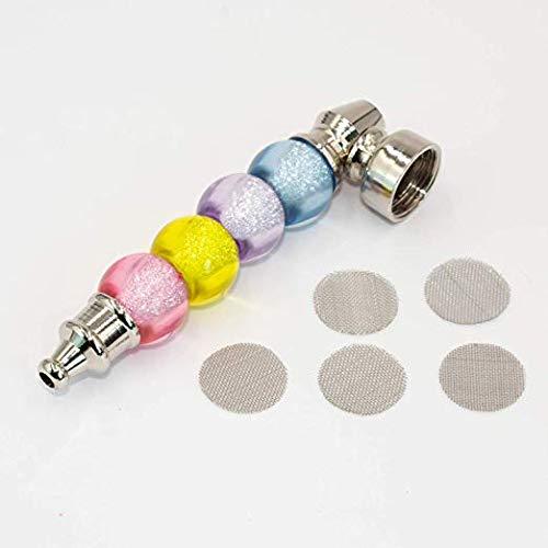 Bubble Water Pipe - JC.W Brands Colorful Bubble Metal Tobacco Smoking Pipe