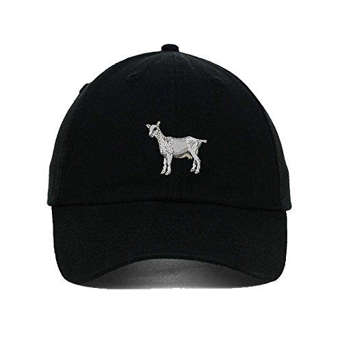 Goat Hat (I Love Heart Goats Embroidery Twill Cotton 6 Panel Low Profile Hat Black)