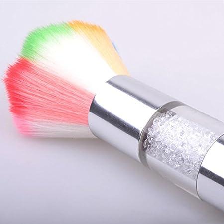 Frcolor Cepillo de removedor de uñas para acrílico y gel UV Polaco Nail Art Decor Polvo polvo limpiador: Amazon.es: Belleza