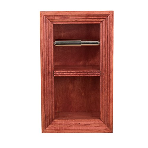 Florida Breeze Cabinets Zephyr Recessed Toilet Paper Holder with Spare Roll, Empire Red
