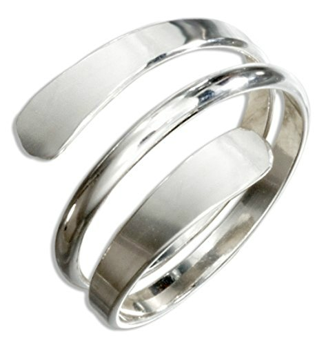 silver coil ring - 6