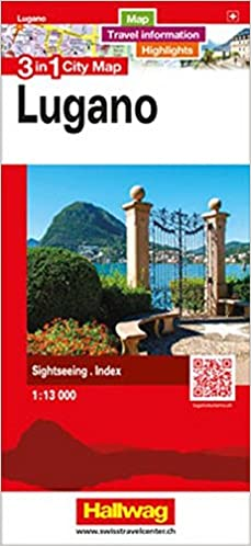 Lugano 3 in 1 City Map (English, French, Italian and German Edition ...