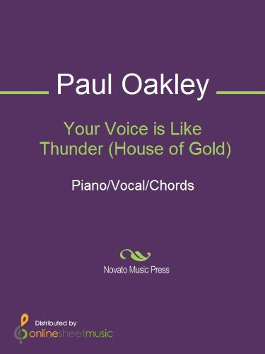Your Voice is Like Thunder (House of Gold) - Kindle edition by Paul ...