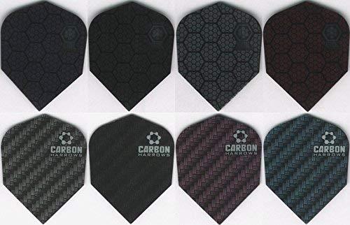 10 PACK OF HARROWS CARBON & ATOMIC Dart Flights: 10 sets (Harrows Carbon Dart Flights)