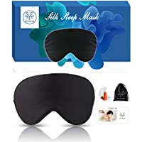 Yolmina Soft Light Blockout Eye Mask with Ear Plug Storage Pouch for Travel/Rest/Office/Nap