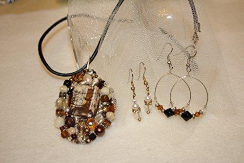 Red Creek Jasper Pendant w/2 Earrings