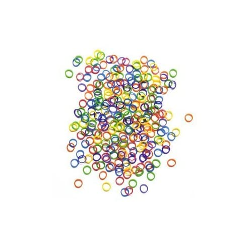 """BeautyMood 500 Pcs Orthodontic Elastics 1/2"""" MULTIPLE MIXED NEON COLORED Rubber Bands Great for Dog Grooming Top Knots, Bows, Braids, and Dreadlocks"""