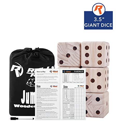 for Adults, Kids, Families - Outdoor Wooden Dice Games Sets - Fun, Interactive Clean Family Games - Clean, Interactive Activities for Outside, Lawn, Bars, Backyards ()