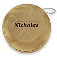 Dimension 9 Nicholas Classic Wood Yoyo with Laser Engraving