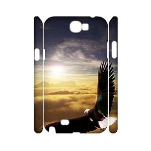 Bald Eagle Custom 3D Cover Case for Samsung Galaxy Note 2 N7100,diy phone case ygtg579459