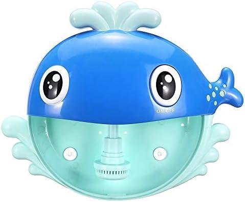 子供 おもちゃ クジラバブル機械電気自動メーカーブロワーベビーキッズ子供バスバブルマシン バブルおもちゃ (Color : Blue, Size : One size)