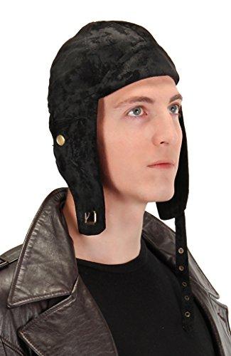 [elope Classic Aviator Hat, Black, One Size] (Adult Aviator Hat)