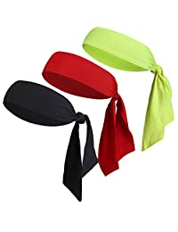 Dri-Fit Sports Head Atar-Color sólido Diadema Sweatband Performance Elástico & Absorbe la Humedad para Correr/Running/Baloncesto/Tenis/Yogo/Piratas/Athletics/Working out