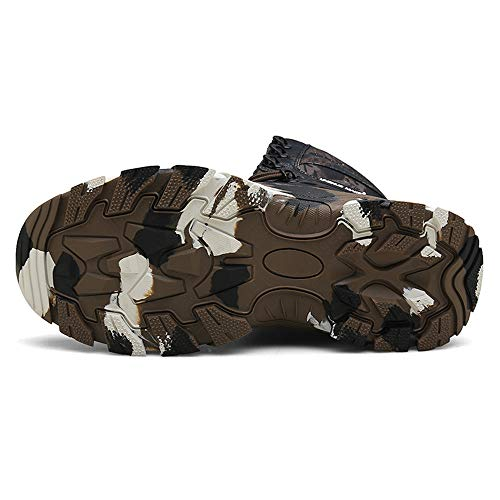 WOJIAO Outillage Tactique pour Hommes Bottes Militaires Quatre Saisons imperméable Antidérapant Chaussures pour Hommes… 4