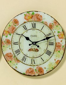 fc82e993fc90e6 Horloge murale D34 cm coloré verre blanc transparent Paris  Amazon ...