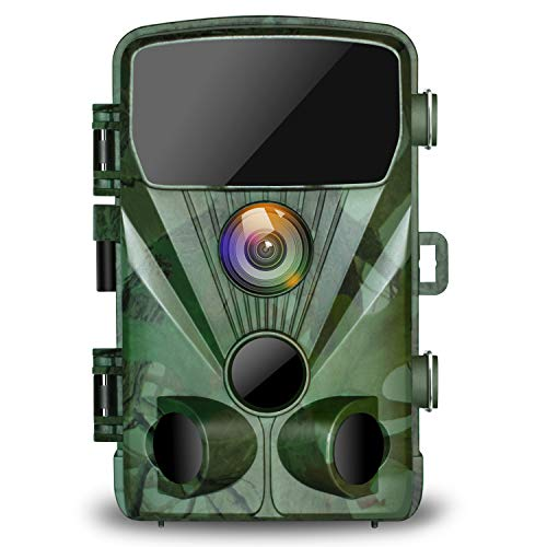 TOGUARD Trail Camera 20MP 1080P Hunting Game Cameras with Night Vision 130° Detection Motion Activated Waterproof Wildlife Hunting Cam with 0.3s Trigger Speed 2.4 LCD IR LEDs