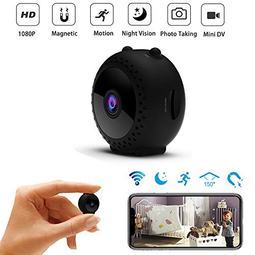 Mini Spy Camera Wireless WiFi Hidden Security Camera,HD 1080P Small Nanny Cam Support Night Vision & Motion Activated Recording,Phone App Remotely Control for Indoor Outdoor Monitoring