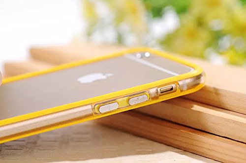 Iphone 6 plus 6s plus (5.5 inch) Silicon Bumper Transparent Yellow by G4GADGET®