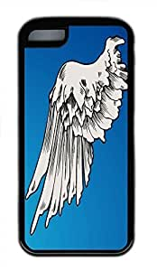 TYH - Hot iPhone 4/4s Customized Unique Print Design Angel Wing Graphics New Fashion Tpu Black iPhone 4/4s Cases ending phone case