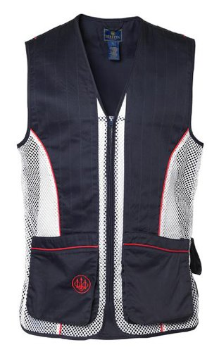 Beretta Men's Silver Pigeon Shooting Vest, Navy Blue/Red/White, XX-Large ()