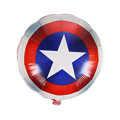 SUPERHERO BALLOON CAPTAIN AMERICA BIRTHDAY BALLOON 10 PCS