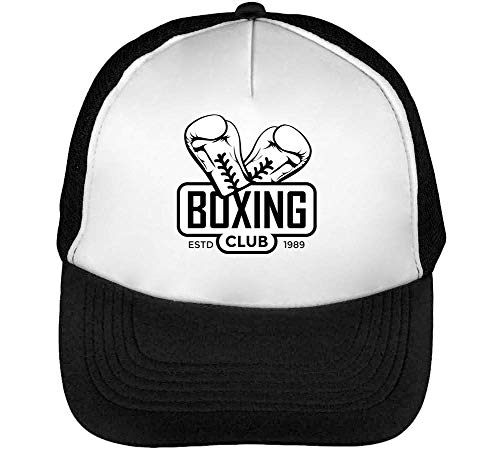 Hombre Sport Badge Beisbol Club Negro Boxing Blanco Gorras Snapback qfIrfCw
