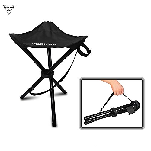 Forbidden Road Camping Stool Seat Tripod Stool Portable Folding Hiking Fishing Travel Backpacking Outdoor Stool 0.9lbs Lightweight Capacity 220lbs - Red Blue Green (Folding Fishing Seat)