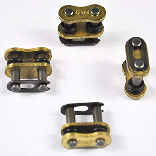 O-ring Link Master - Star-Trade-Inc - 4pc 428 Model Motorcycle Chain Connecting Master Link O-Ring Seal Chain Buckle