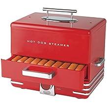 Nostalgia HDS248RD Extra Large Diner Style Hot Dog Steamer