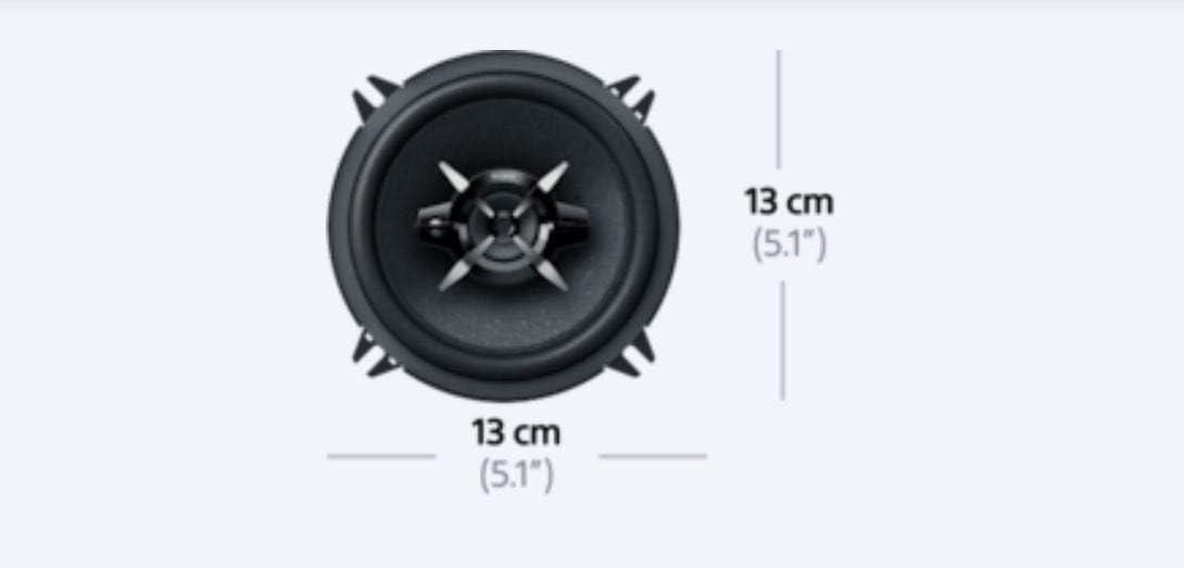 Sony XSFB1330 5.25-Inches 240 Watt 3-Way Car Audio Speakers Black 1 pair