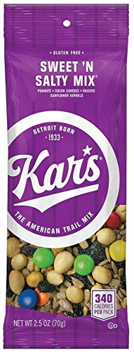 Kar's Nuts Sweet 'N Salty Trail Mix Snacks - Bulk Pack of 2.5 oz Individual Single Serve Bags (Pack of 36)