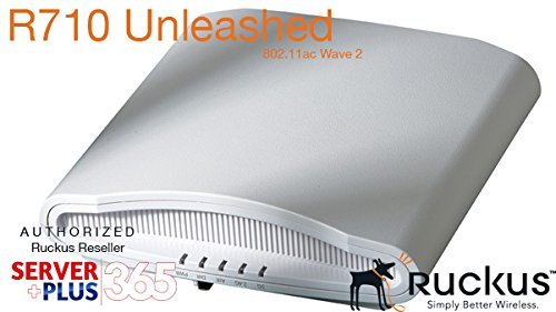 (Ruckus Wireless ZoneFlex R710 UNLEASHED Dual-Band 2.4GHz and 5Ghz- 802.11ac Wave 2 Access Point (4x4:4 Streams, BeamFlex, Dual Ports, 802.3af PoE, US) 9U1-R710-US00)