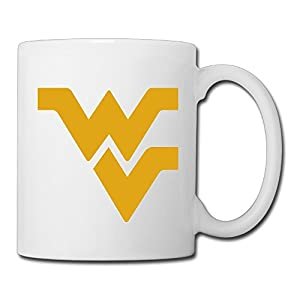 Christina West Virginia Mountaineers Logo Ceramic Coffee Mug Tea Cup White