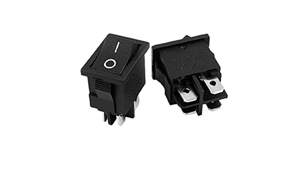 eDealMax a11123000ux0184 4 Pin ON/Off I/O DPST Snap En Interruptor Mini Boat Rocker, 5 Piece, AC 6 Amp / 250V, 10 Amp / 125V: Amazon.com: Industrial & ...
