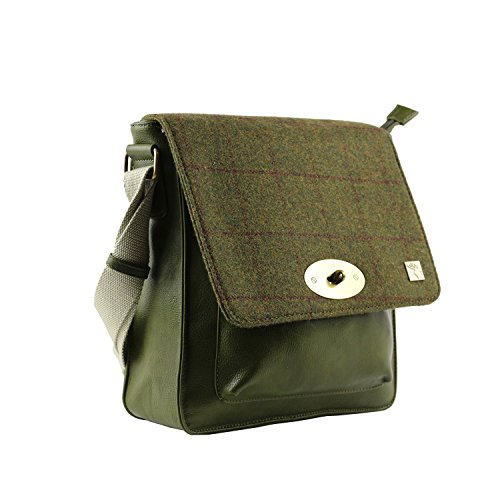 Bag Country Tweed Bag Green Country Green Messenger Messenger Tweed qgYYZrw5I