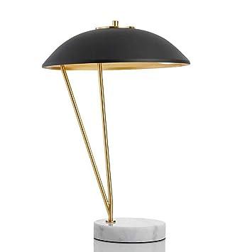 FHTD Lámpara De Mesa De Hierro Forjado con Luz LED: Amazon ...