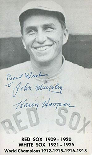Harry Hooper HOF Red Sox Ws 1912 1915 1916 1918 Autographed Signed Photo Postcard with Memorabilia JSA from Sports Collectibles Online