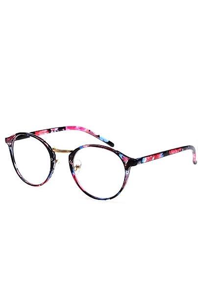 nuovo stile 2f684 72451 Vococal - Montatura Occhiali da Vista Occhio Frame Struttura Vetri Ottici  Pianura Occhiali con Lenti Trasparenti per Donne Signore Ragazze