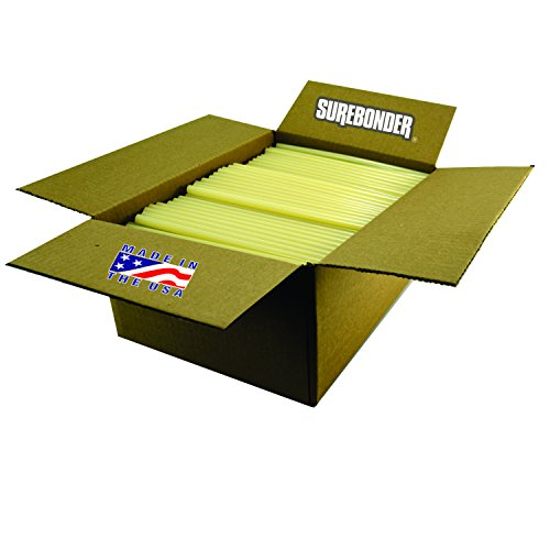 Surebonder 711R10 Light Amber Fast Set Packaging Standard Glue Sticks, Made in the USA, 7/16'' x 10'' Length, 25 lb. Box, 450 Sticks (Pack of 450) by Surebonder