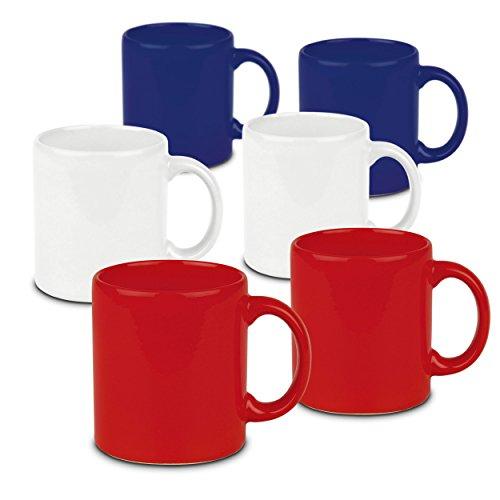 Waechtersbach Fun Factory Mugs, Red, White and Blue, Set of 6