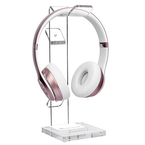- GeekDigg Acrylic Headset Headphone Stand Gaming Headphone Holder with Cable Organizer-Transparent