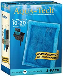 Aqua-Tech EZ-Change No.2 3-Pack Aquarium Filter Cartridge for 10 to 20 Power Filters