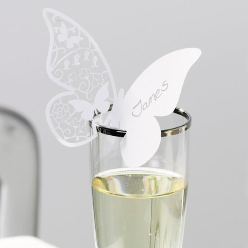 Something In The Air Butterfly Place Cards White Pack Of 10 Name