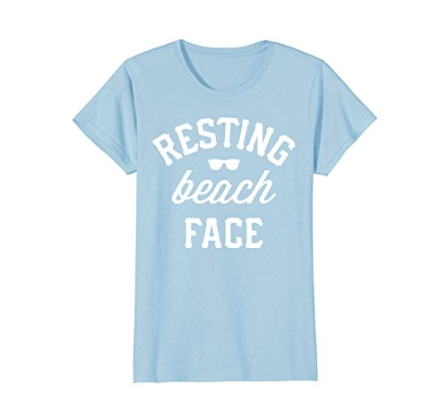 Womens Resting Beach Face Sunglasses Summer Vacation Gift T-Shirt Large Baby - Sunglasses Best The Beach For