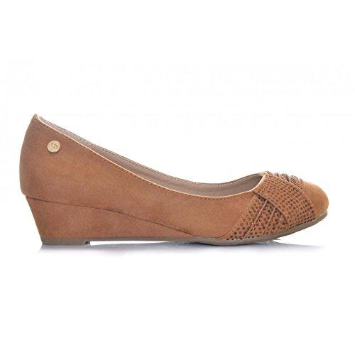 4f6bc4b2dc0 Bailarinas XTI TACÓN PEQUEÑO Camel Mujer  Amazon.es  Zapatos y complementos