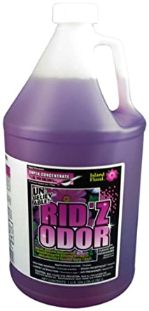 Unbelievable! UKO-645 128 Oz. Rid'z Odor Island Floral Super Concentrated Deodorizer (Case of 4)