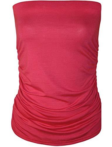 unica Taglia Canotta donna senza maniche 21fashion da Solid ciliegia rosa d8qRwd6p0