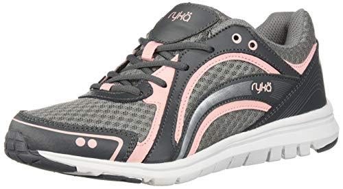 Ryka Women's Aries Walking Shoe, Grey/Rose, 8.5 W US in USA
